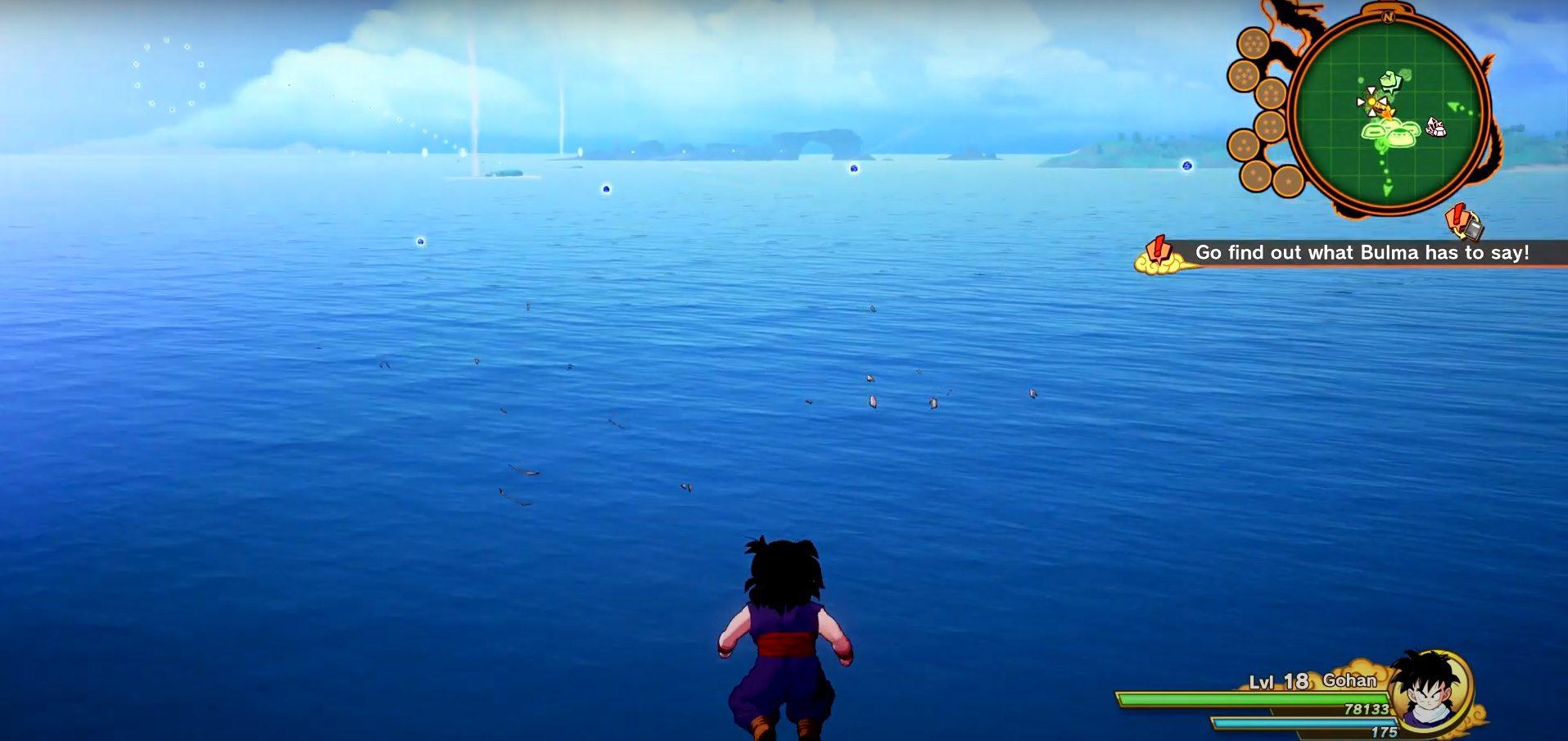 Dragon Ball Z Kakarot Great Energetic Fish Schools Locations