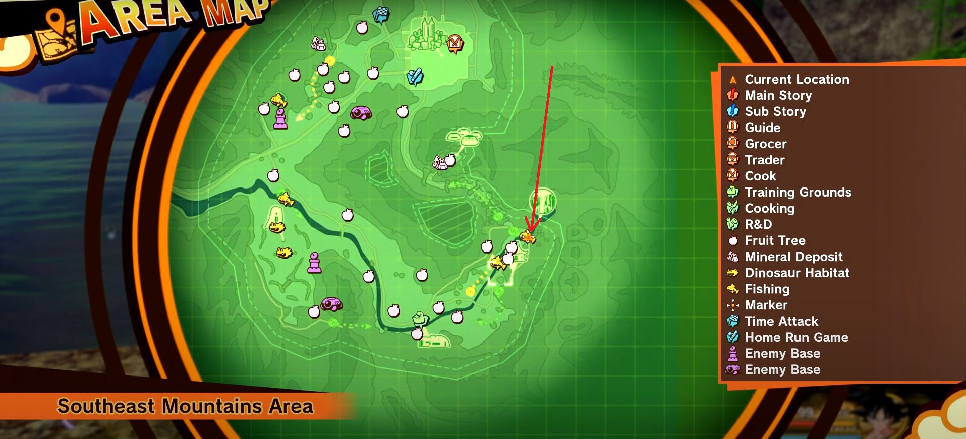 Dragon Ball Z Kakarot Huge Trout Locations