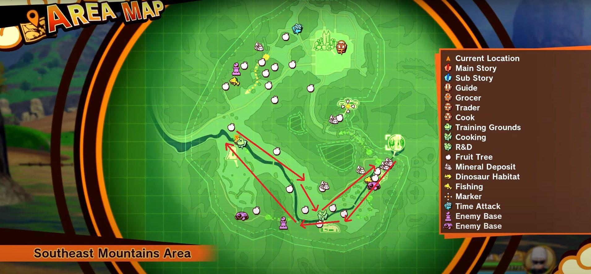 Dragon Ball Z Kakarot River Shrimps Locations