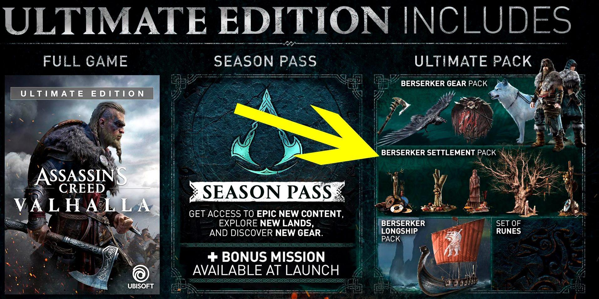 Assassin's Creed Valhalla Berserker Settlement Pack