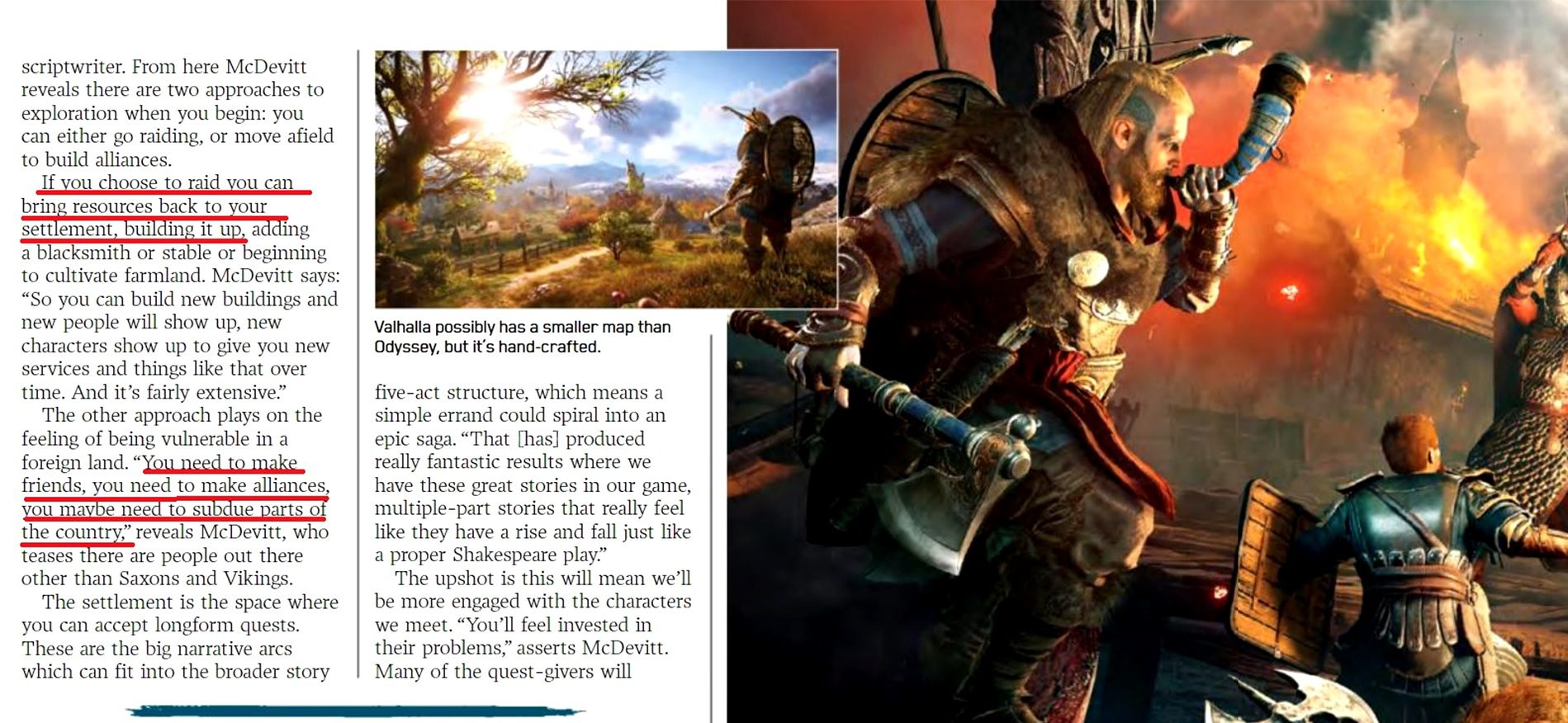 Assassin's Creed Valhalla Settlement Upgrades