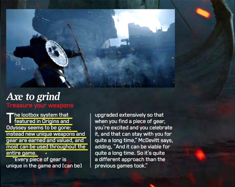 Assassin's Creed Valhalla LootBox System