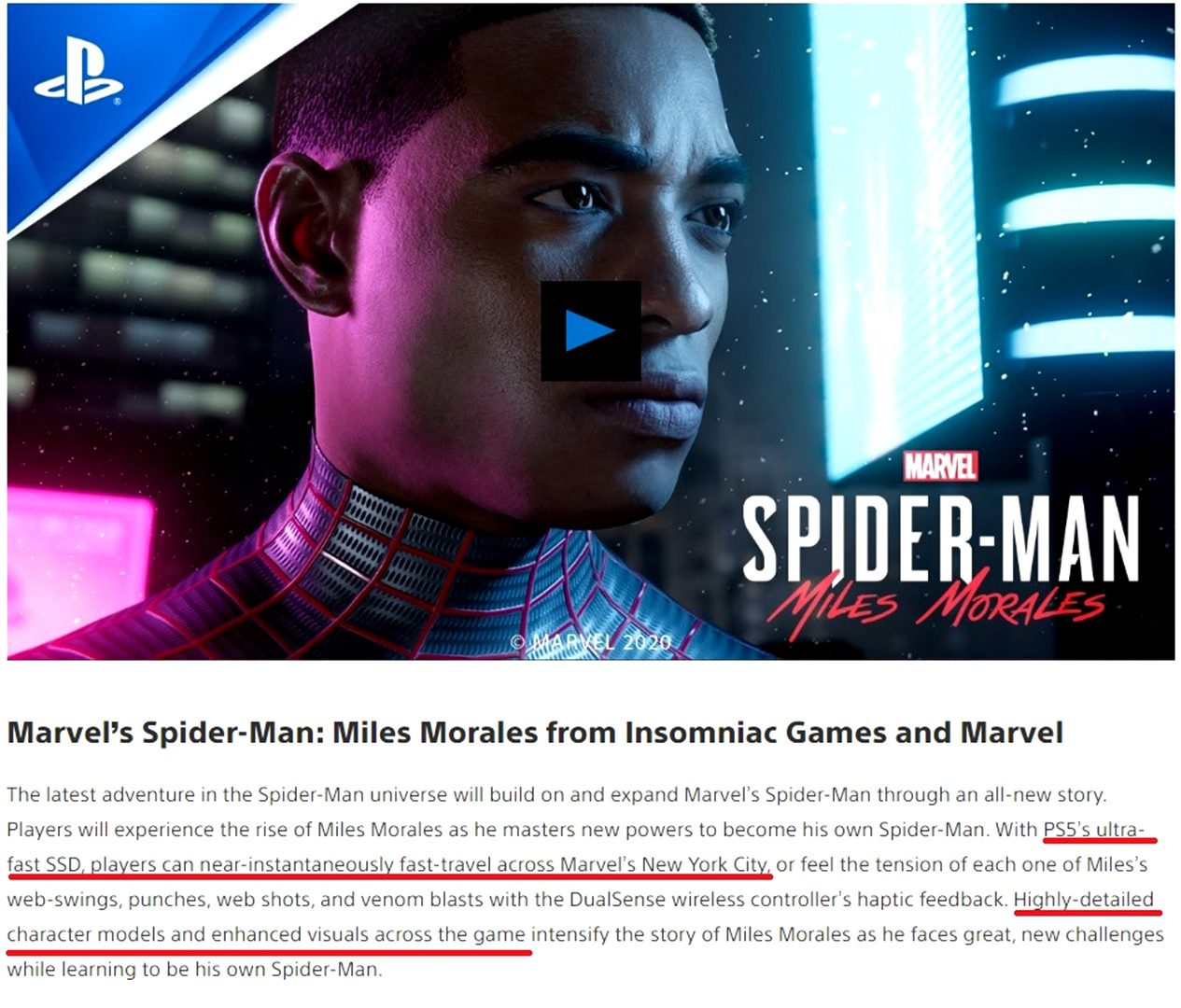 Marvel's Spider-Man: Miles Morales PlayStation 4