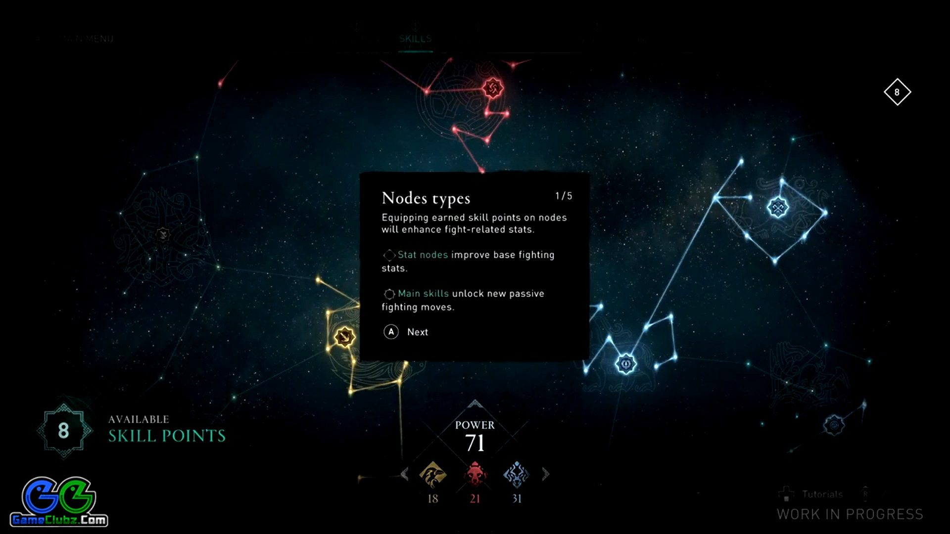 Assassin's Creed Valhalla Skill Nodes