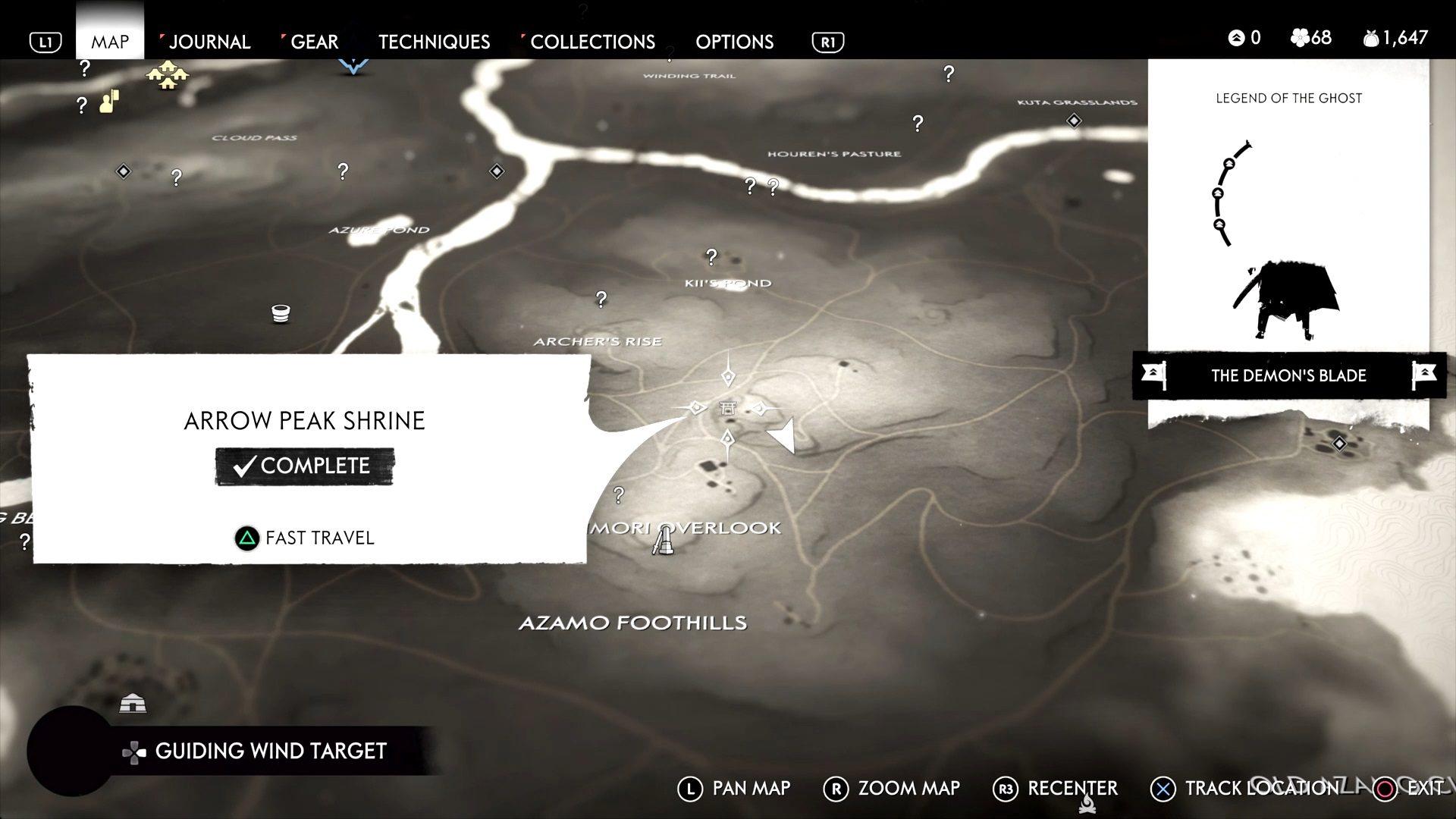 Ghost of Tsushima Arrow Peak Shrine Location Guide