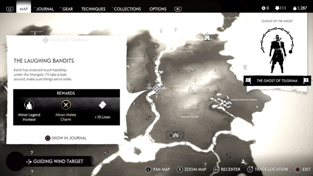 Ghost of Tsushima Hidden Altar 2 Location Map