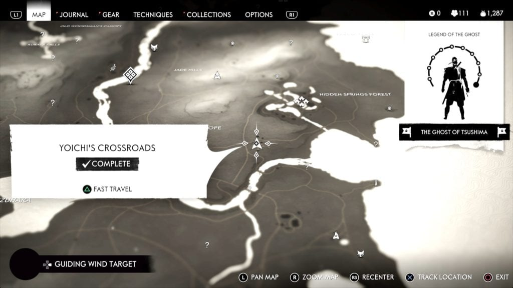 Ghost of Tsushima Hidden Altar 3 Location Map