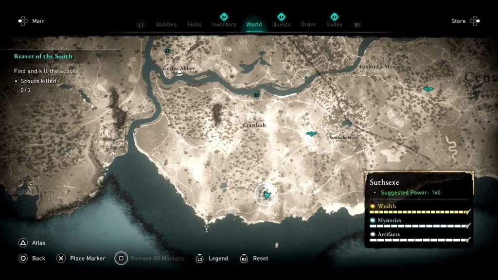 Assassin's Creed Valhalla Suthsexe Crawelie Hoard Treasure Location