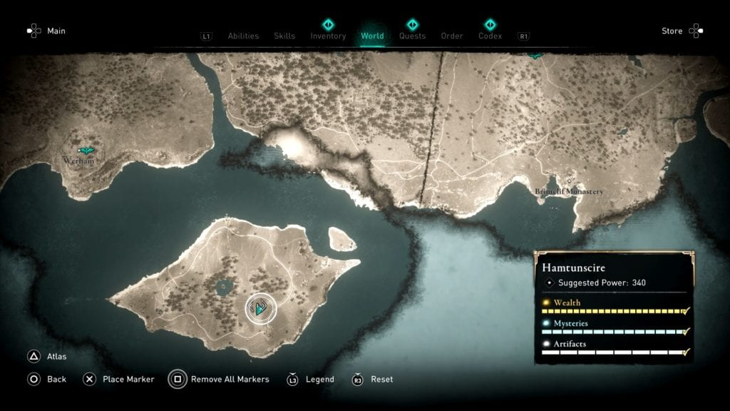 Assassin's Creed Valhalla Wincestre Bishopric Hoard Treasure Location