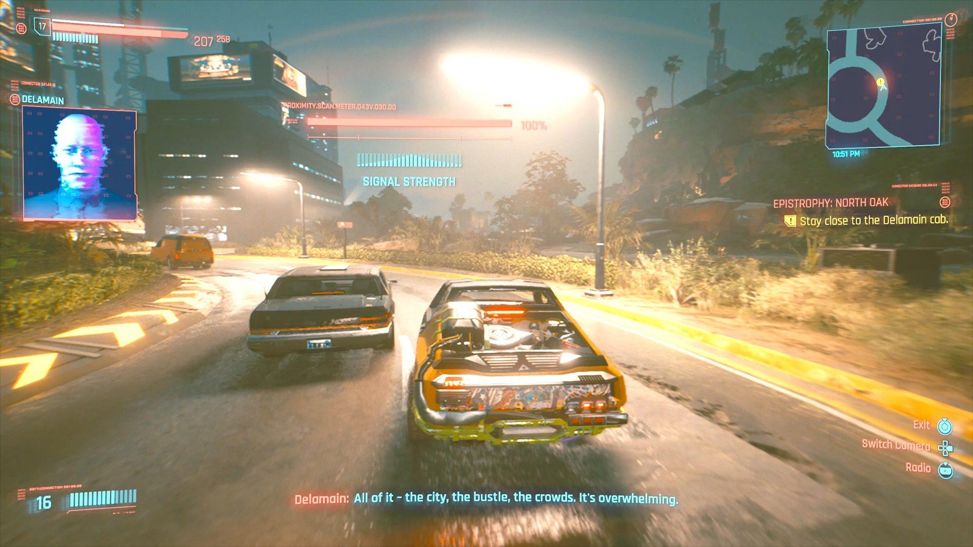 Cyberpunk 2077 North Oak Delamain Hidden Cab