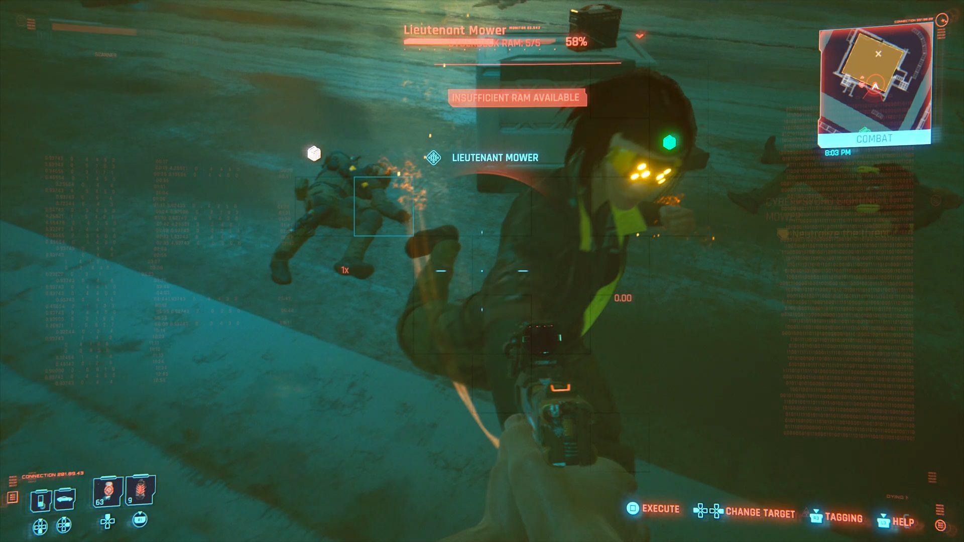 Cyberpunk 2077 Lt Mower Cyberpsycho Sighting