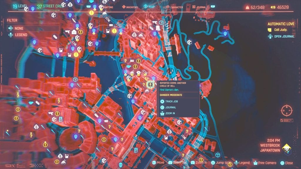 Cyberpunk 2077 Another Circle of Hell Reported Crime