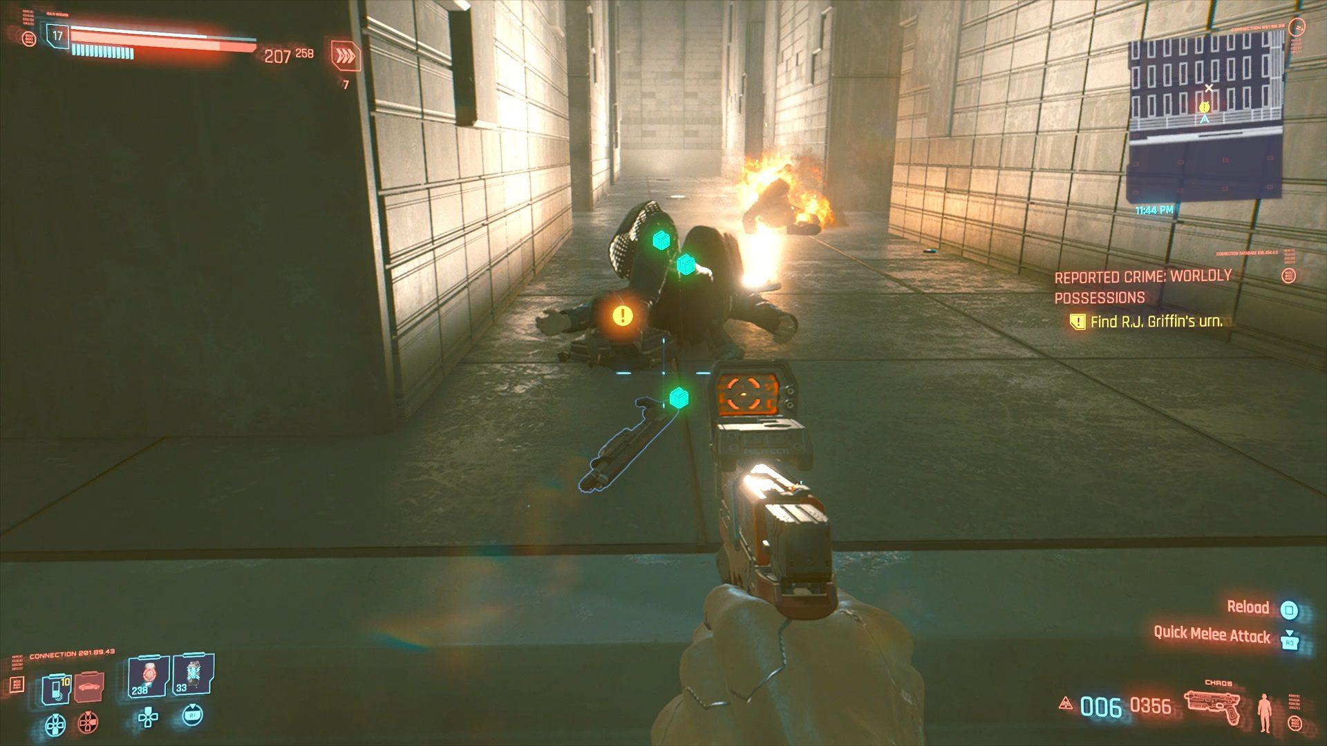 Cyberpunk 2077 R.J. Griffin's Urn Location