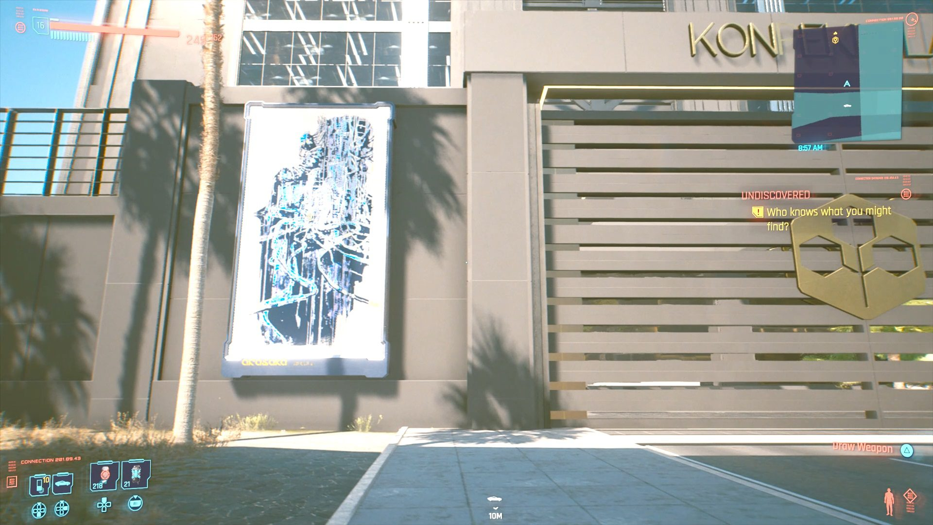 Cyberpunk 2077 The Emperor Tarot Card Graffiti Location