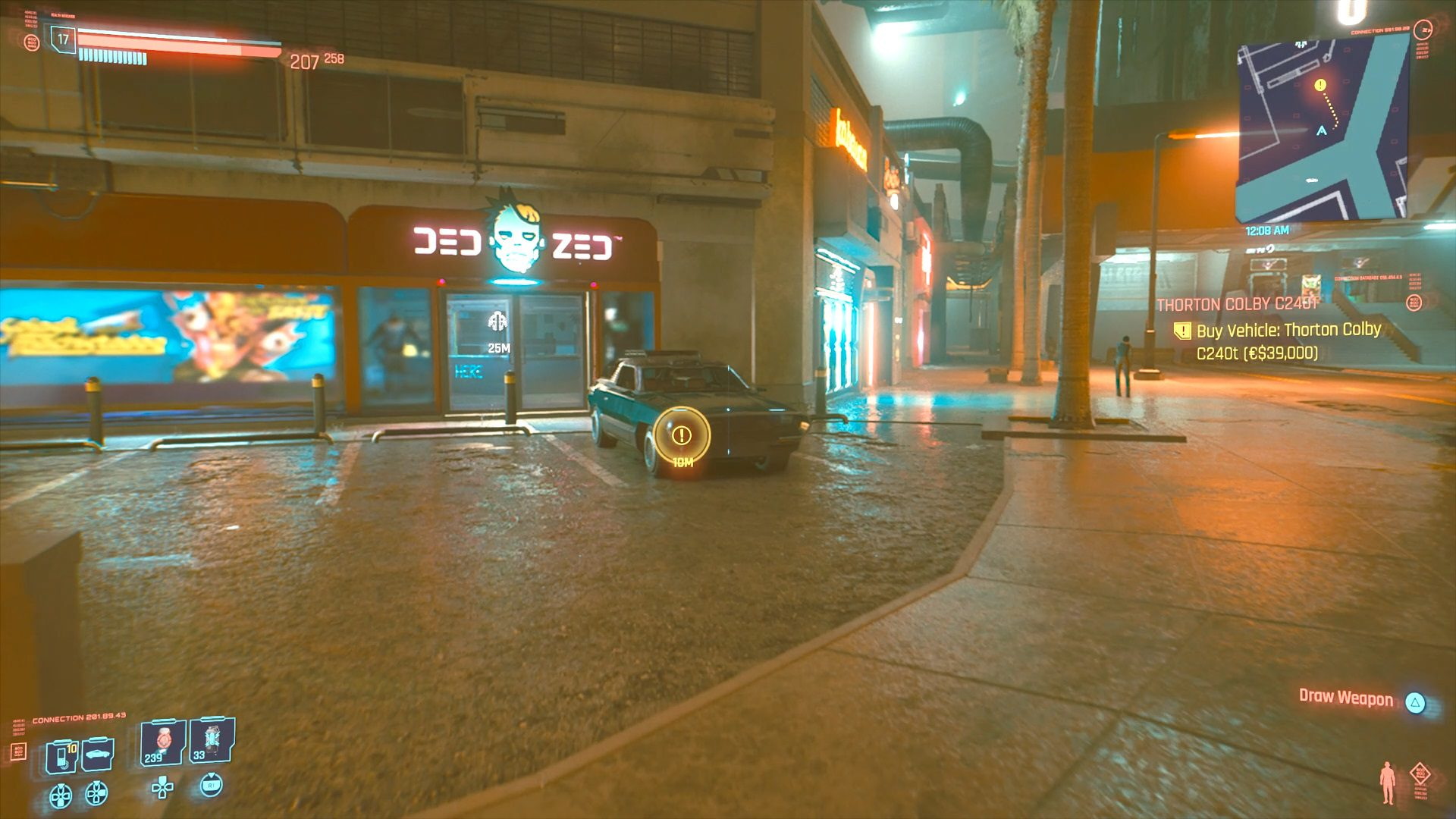 Cyberpunk 2077 Thorton Colby C240T Vehicle Location