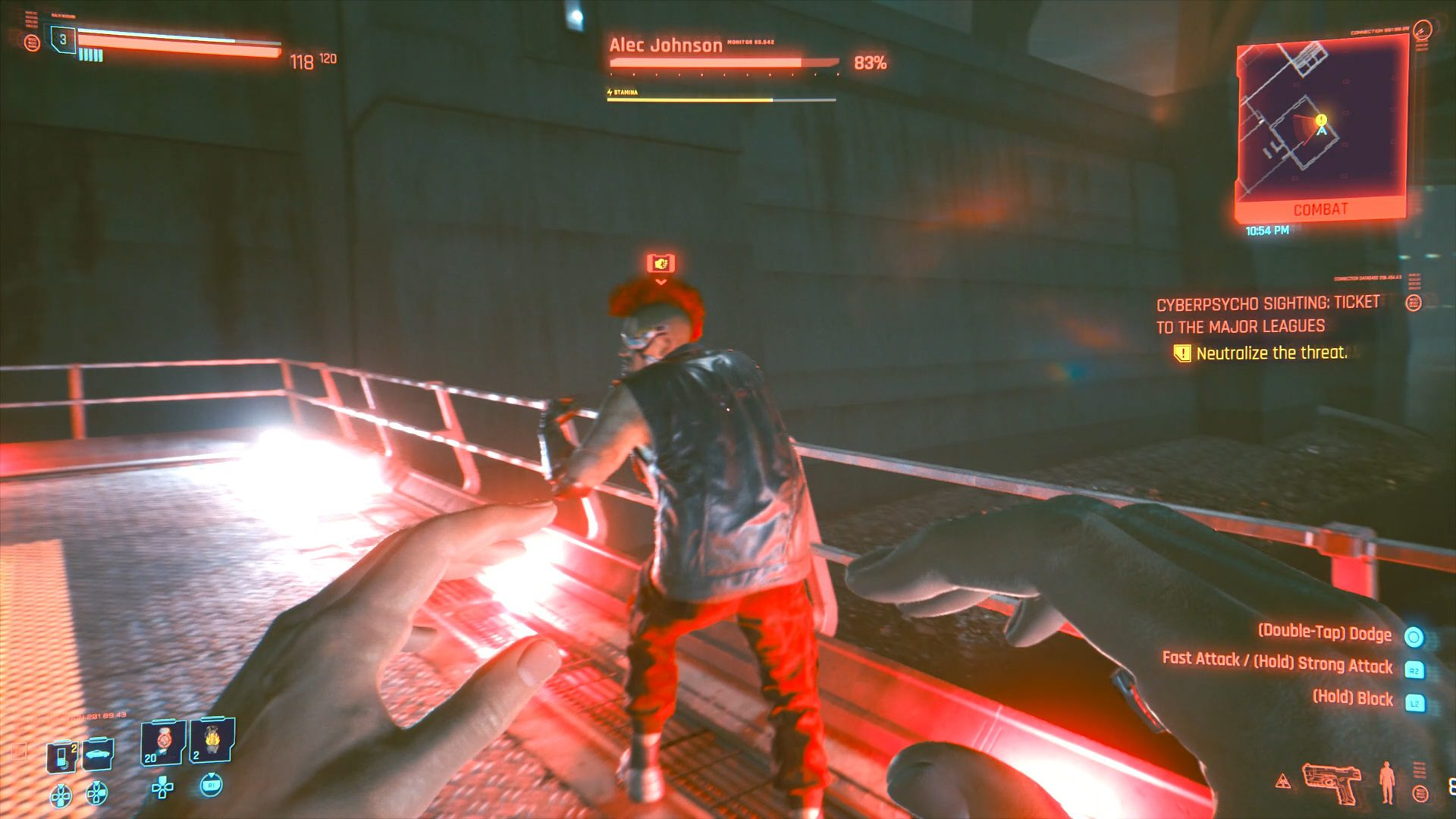 Cyberpunk 2077 Ticket to the Major Leagues Cyberpsycho Sighting Gig