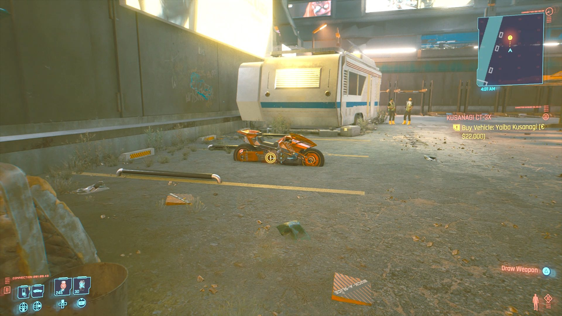 Cyberpunk 2077 Yaiba Kusanagi CT-3X Bike Location