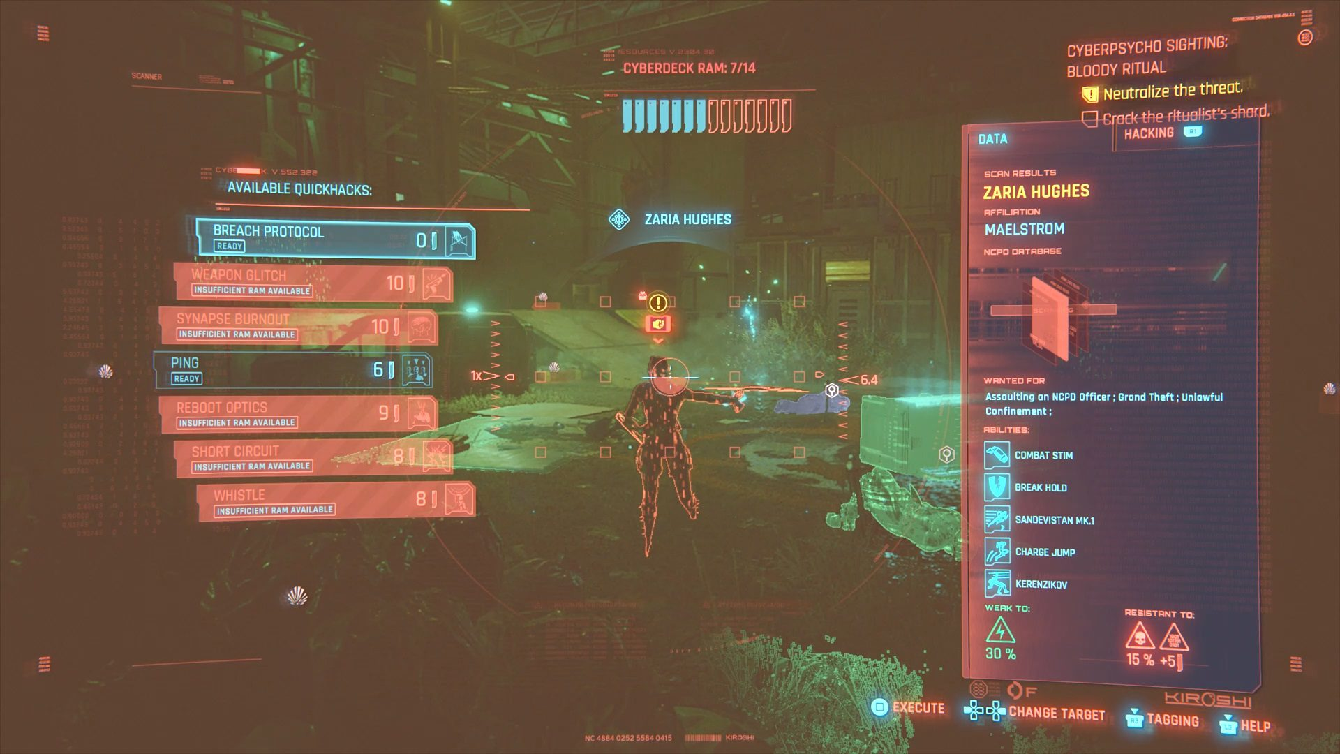 Cyberpunk 2077 Zaria Hughes