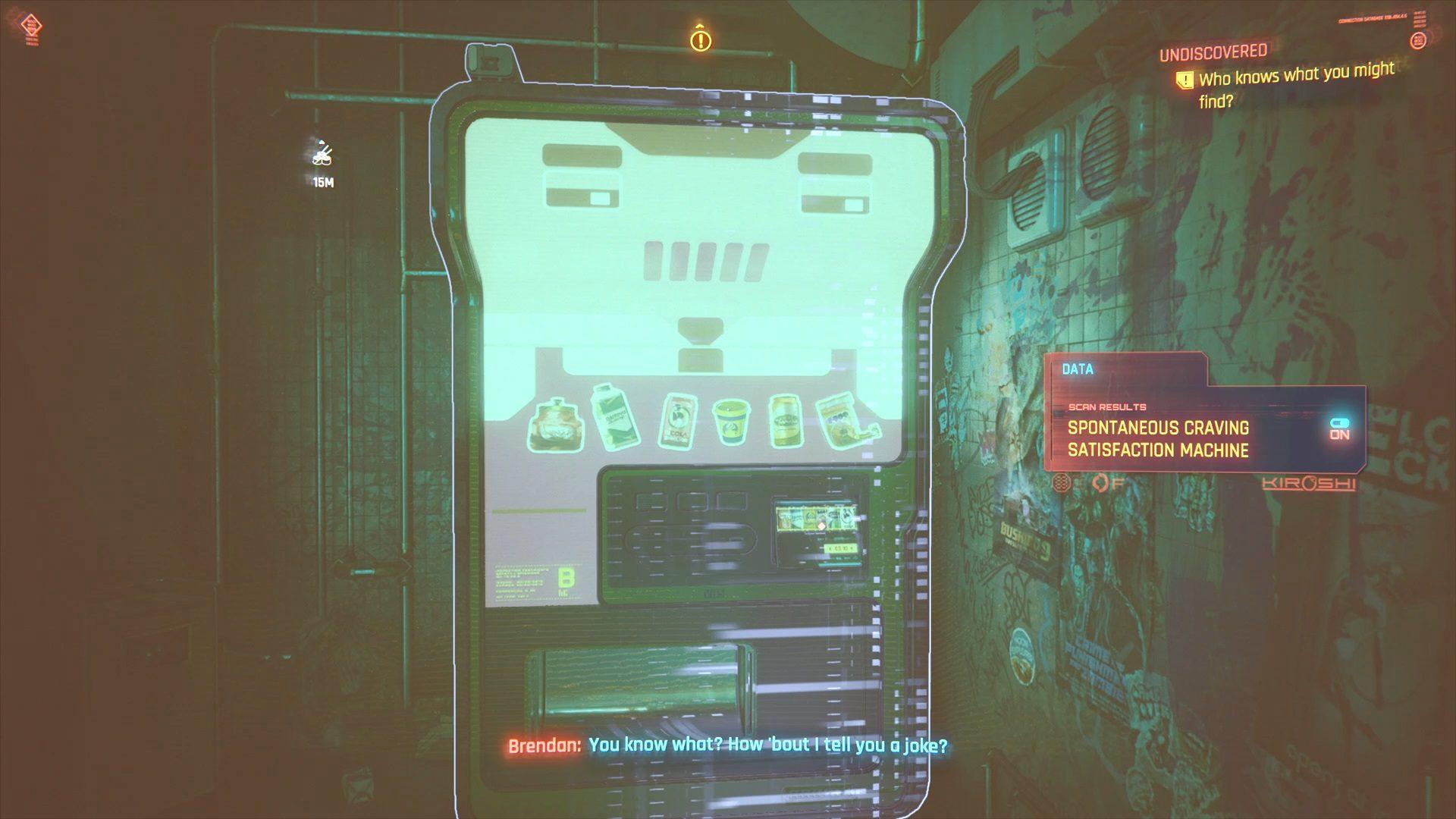 Cyberpunk 2077 Brendan Vending Machine