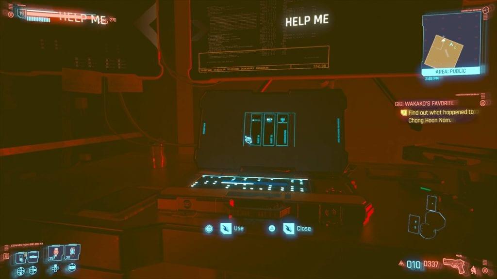 Cyberpunk 2077 Chang Hoon Nam's Computer