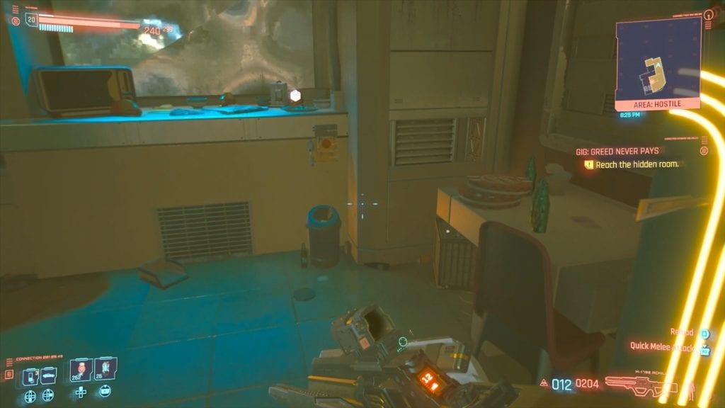 Cyberpunk 2077 Leah Gladen Hidden Room Switch