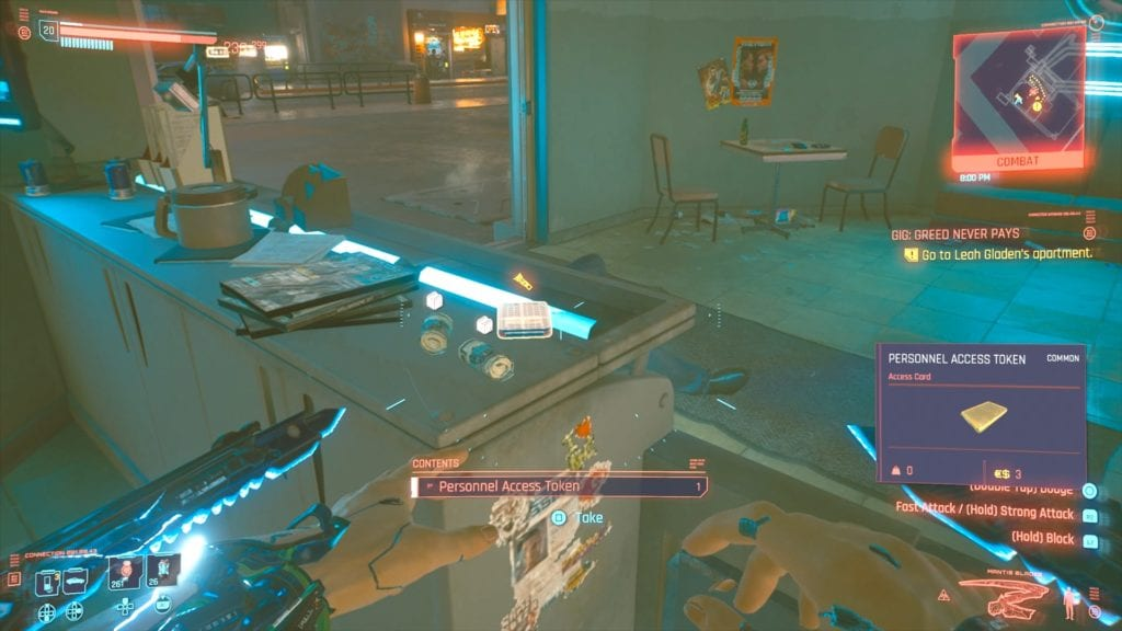Cyberpunk 2077 Leah Gladen's Apartment Key