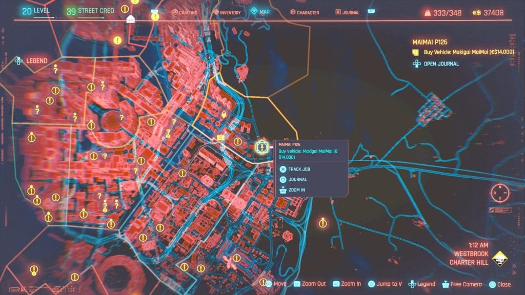 Cyberpunk 2077 Maimai P126 Location
