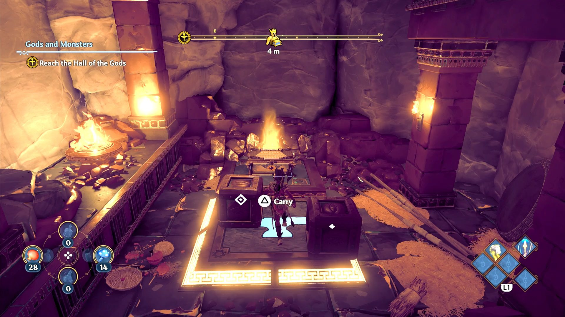 Immortals Fenyx Rising Clashing Rocks Southern Island Mountain Cave Epic Chest