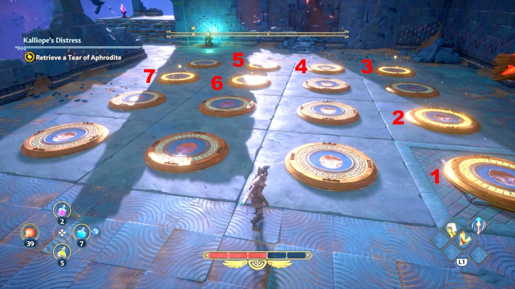 Immortals Fenyx Rising Kalliope's Distress Plates Puzzle Solution