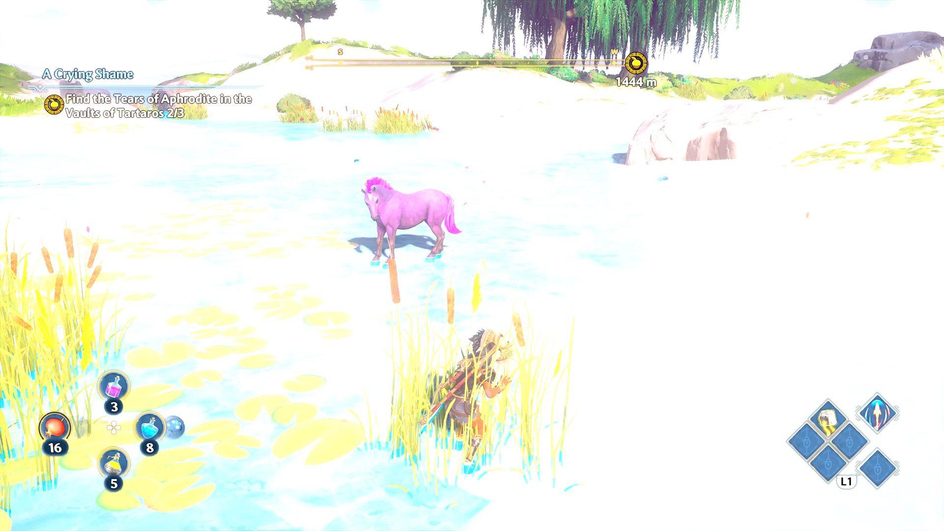 Immortals Fenyx Rising Tame Tyrian Purple Unicorn Mount