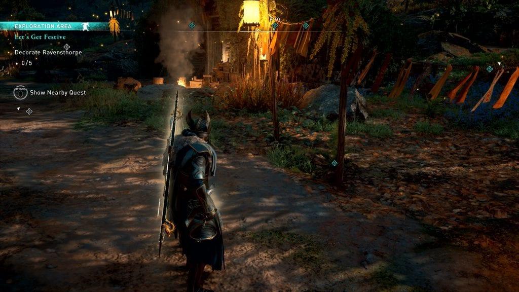 Assassin's Creed Valhalla Let's Get Festive Bug Decoration Spot