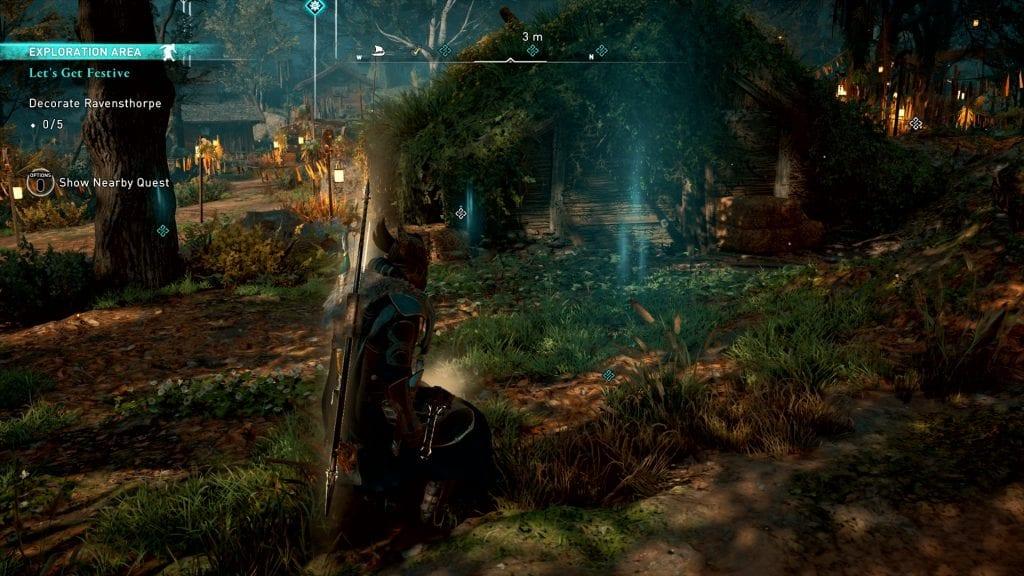 Assassin's Creed Valhalla Let's Get Festive Glitch Decoration Spot