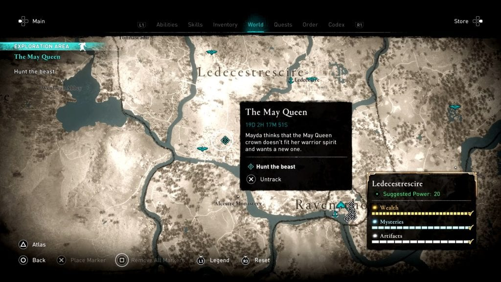 Assassin's Creed Valhalla May Queen Beast Locations