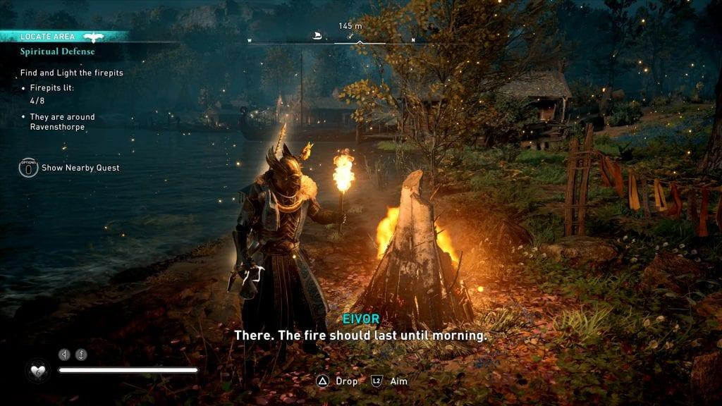 Assassin's Creed Valhalla Ostara Festival Firepits Locations