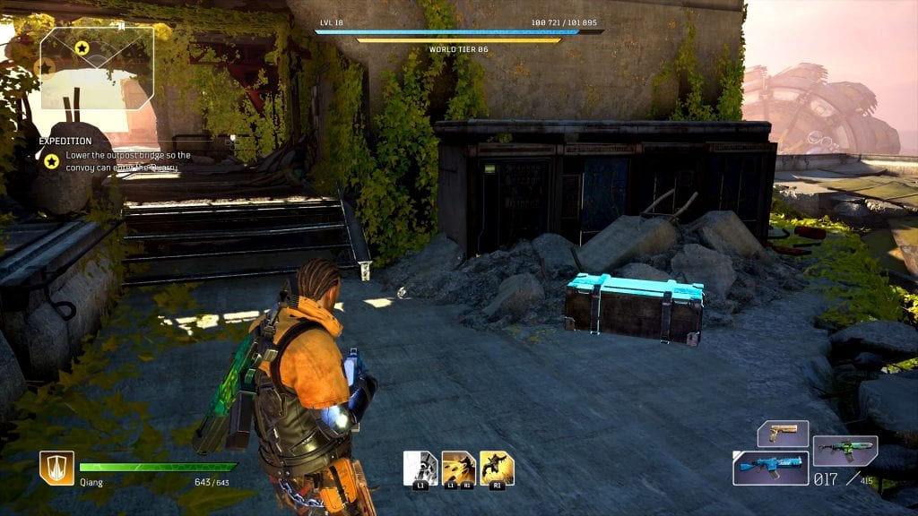 Outriders Quarry Outpost Gate Chests Locations